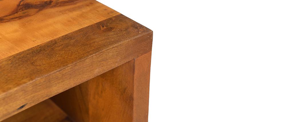 Table de chevet en manguier massif et métal CHENY