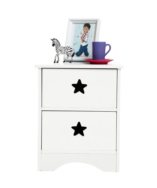 table de chevet enfant blanche etoile miliboo. Black Bedroom Furniture Sets. Home Design Ideas