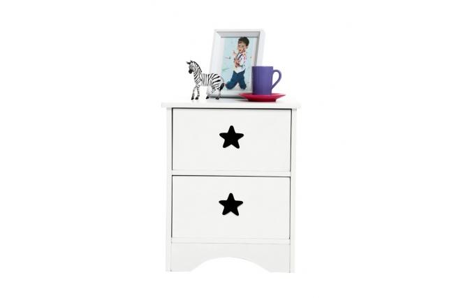 table de chevet enfant blanche etoile miliboo. Black Bedroom Furniture Sets. Home Design Ideas