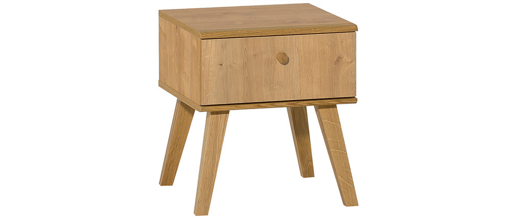 Table de chevet scandinave 1 tiroir chêne MAHE