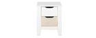 Table de chevet scandinave avec tiroirs bois et blanc MOLENE