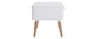 Table de chevet scandinave blanc et bois TOTEM - Miliboo & Stéphane Plaza