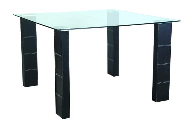 Table de cuisine salle manger abby carr e en pvc et for Table salle a manger carree design en verre