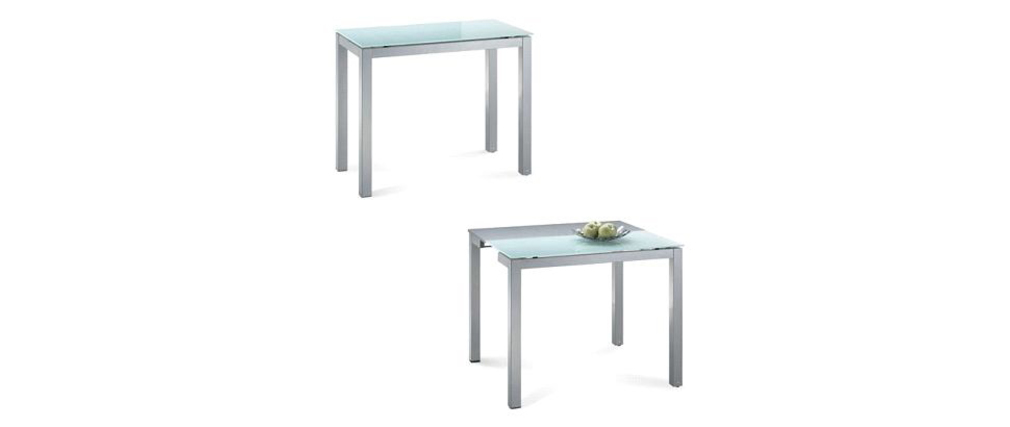Table cuisine verre table et chaise de cuisine table for Salle a manger 2ememain