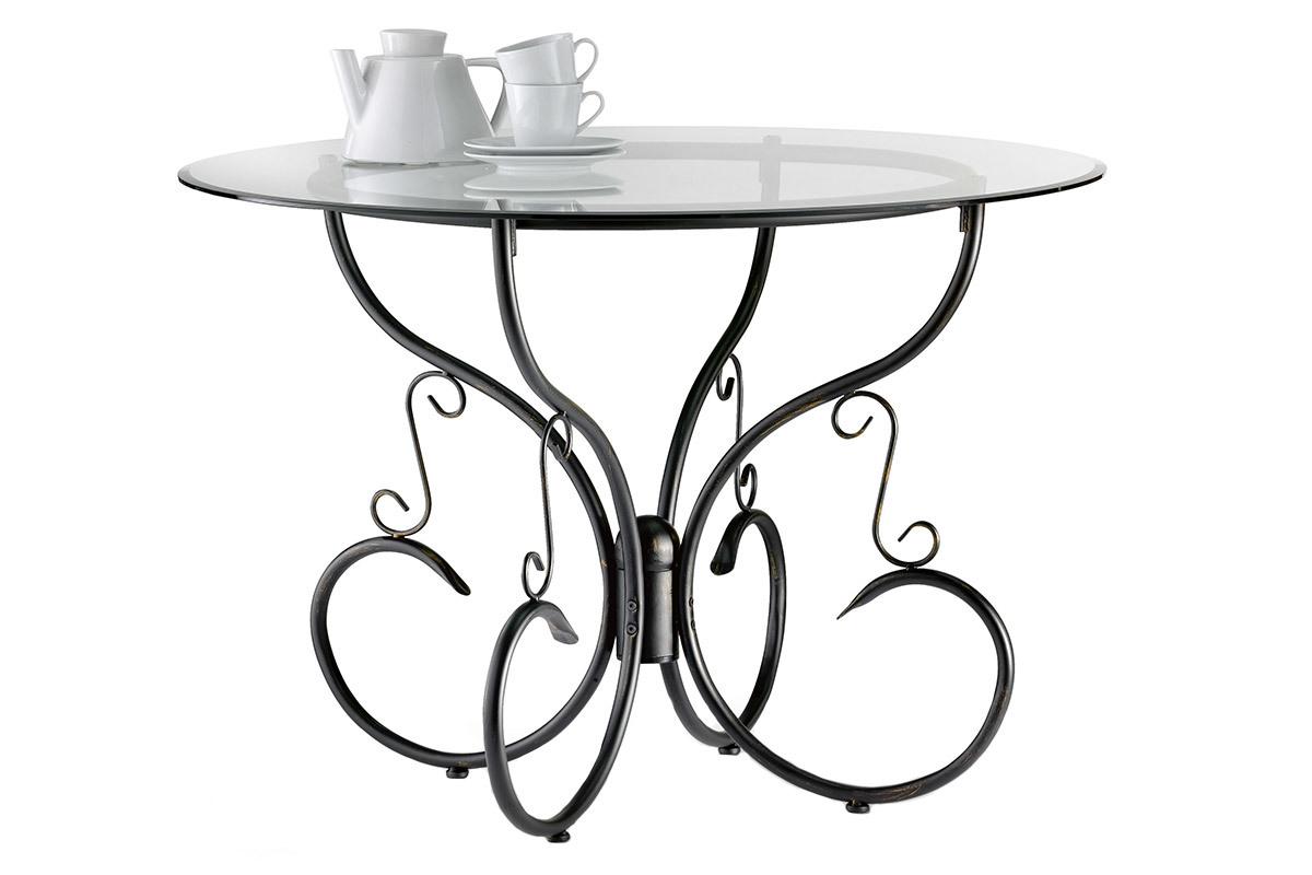 Table ronde salle a manger en verre table de salle for Salle a manger table ronde verre