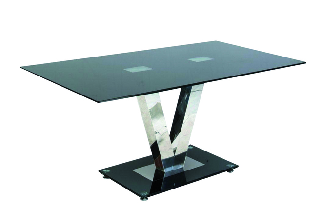Table de cuisine salle manger verre tremp ashley - Table cuisine verre trempe ...