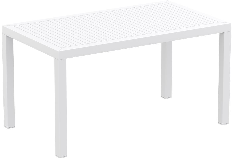 Table de jardin design 140 x 80 cm r sine blanc maryss zoom for Table 140 x 80 design