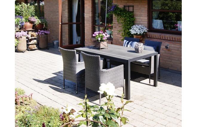 Table de jardin design bois des id es int ressantes pour la conception de des Table jardin imitation bois