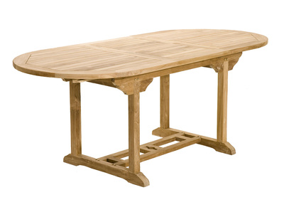 Table de jardin en teck extensible 150/200cm SANTALUZ