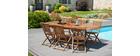 Table de jardin en teck extensible 180/240 BORNEO