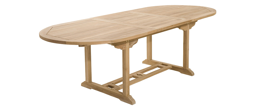 Table de jardin en teck extensible 180/240 SANTALUZ