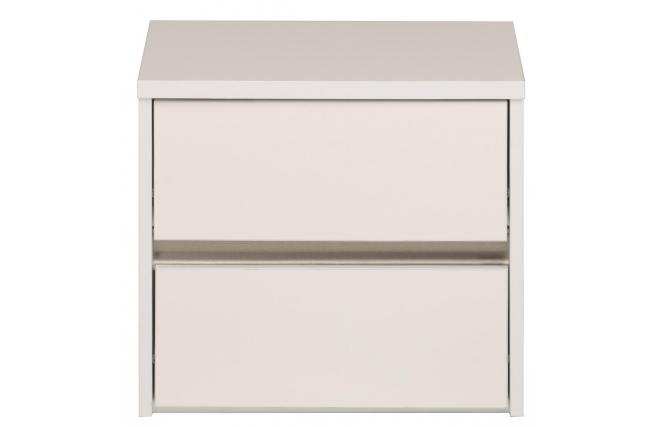 Table de nuit design blanche brillant lumia miliboo for Miroir des modes 427
