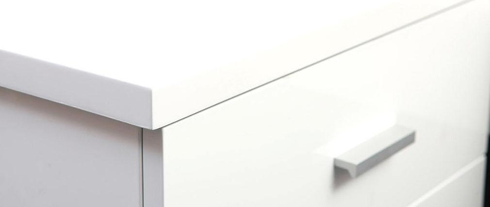 table de chevet design laqu e blanche noha miliboo. Black Bedroom Furniture Sets. Home Design Ideas