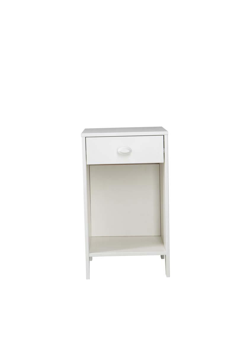 Table de chevet en pin blanc zilla miliboo for Table de nuit blanc