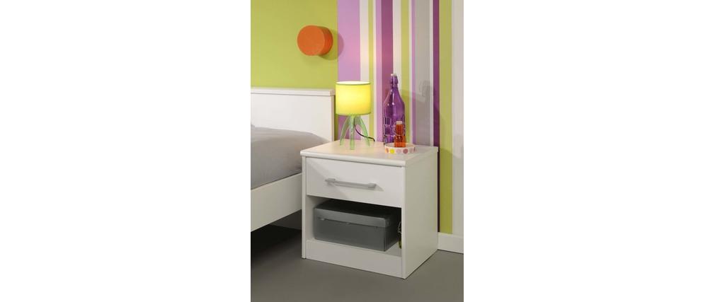 table de nuit enfant design blanche pablo miliboo. Black Bedroom Furniture Sets. Home Design Ideas