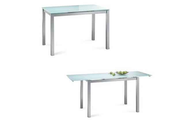 Table cuisine verre table de cuisine moderne extensible for Table de cuisine en verre ikea