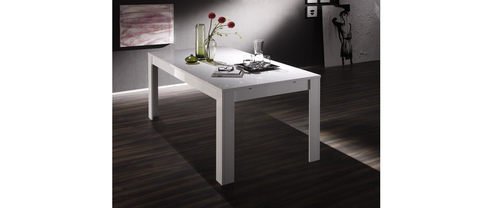 Table design fixe 180cm laqué blanc ERIA