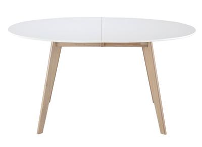 Table Extensible Ovale Blanche Et Bois Clair L150 200 Leena