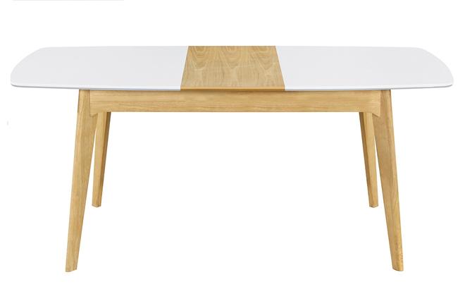 L140 Miliboo Extensible Et Scandinave Blanc Meena Bois Table 180 byfgY6v7