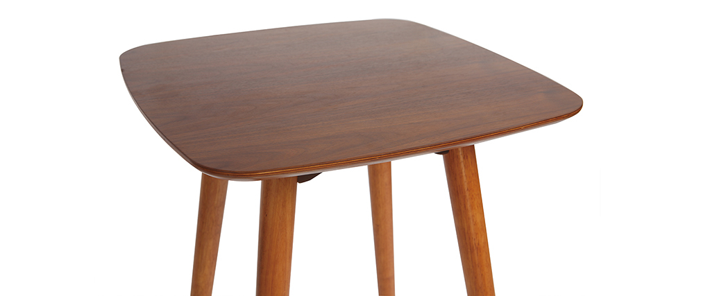 Table haute carrée noyer BALTIK