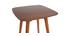 Table haute carrée noyer BALTIK
