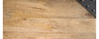 Table haute industrielle rectangulaire en bois et métal MADISON