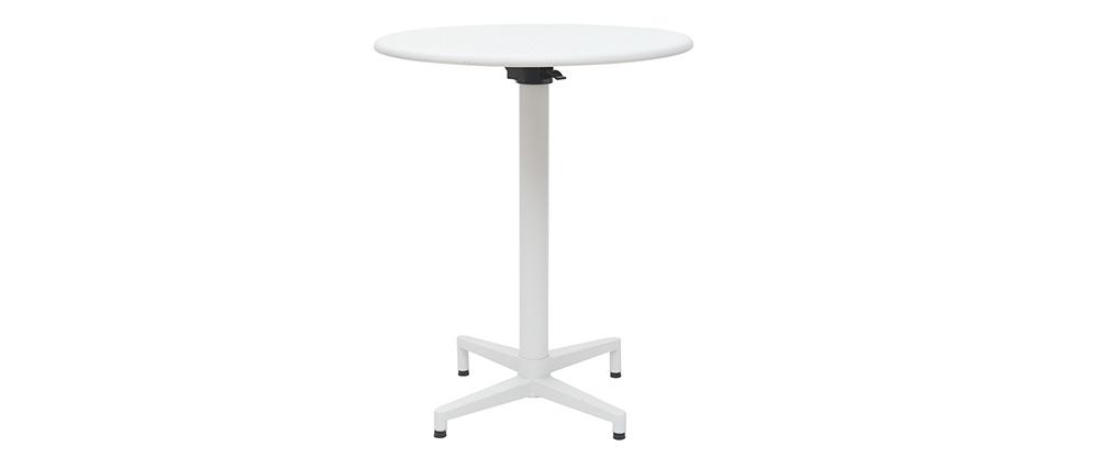 Table pliante ronde en métal blanc D60 cm DOTS