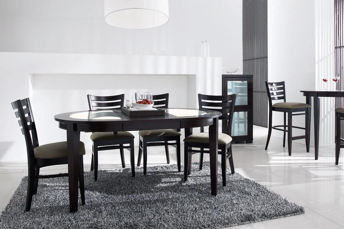 Table ronde rallonges sara ch ne coloris wenge for Table ronde grise avec rallonge