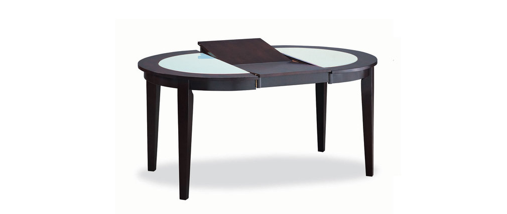 Table ronde rallonges sara ch ne coloris wenge for Table ronde a rallonges
