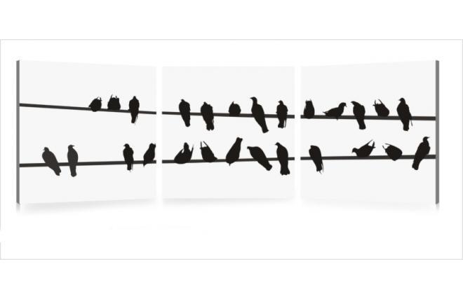 Tableau contemporain birds lot de 3 miliboo for Miroir des modes 427
