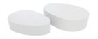 Tables basses design blanches mat (lot de 2) CAMILLE