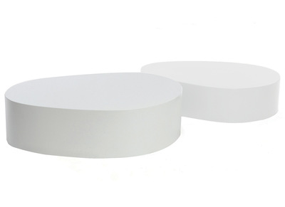 Tables basses design blanches mat lot de 2 CAMILLE