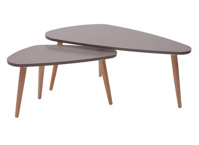 Tables et 2ARTIK naturellot de basses clair bois design gris pGSMVqUz