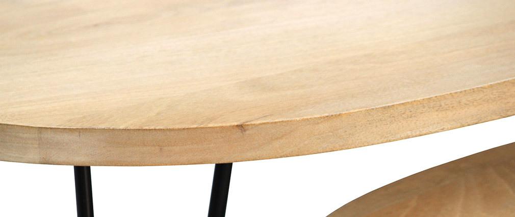 Tables basses gigognes en manguier massif et métal (lot de 2) VIBES