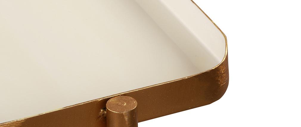 Tables basses gigognes laquées blanc et gris foncé (lot de 2) ZURIA