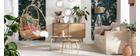 Tables basses gigognes marbre blanc et manguier (lot de 2) EVY