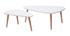 Tables basses gigognes scandinaves blanches et bois clair (lot de 2) ARTIK
