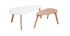 Tables basses scandinaves chêne et blanc (lot de 2) ARTIK