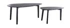 Tables basses scandinaves frêne noir (lot de 2) ARTIK