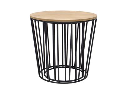 Tables d'appoint design bois et pieds noirs lot de 2 CYCLOS