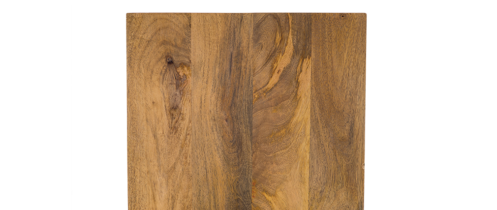 Tables gigognes bois et métal blanc (lot de 3) ROCHELLE