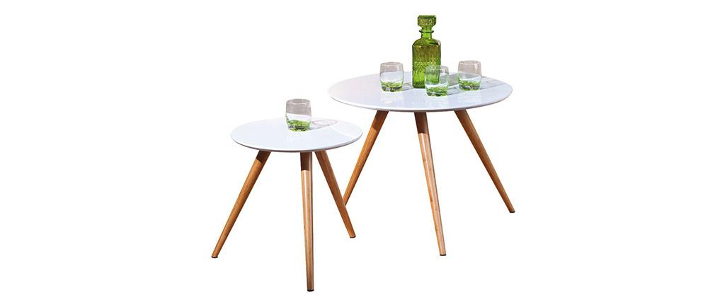 Tables gigognes design (lot de 2) BAMBOU