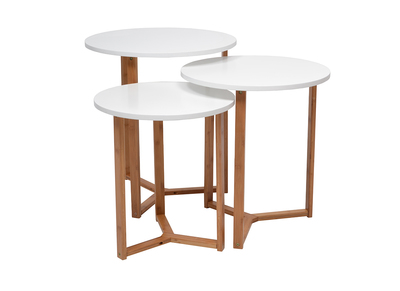 Tables gigognes design bambou lot de 3 NIKO
