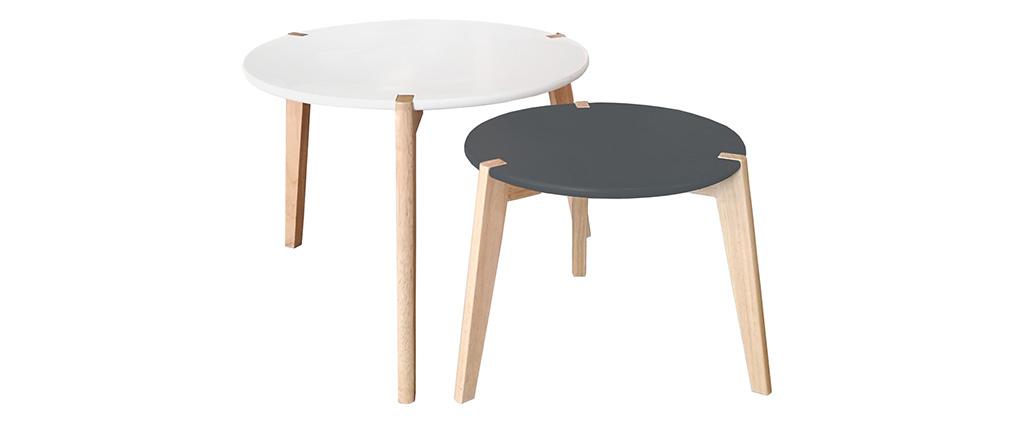 Gigognes Tables Avec Pieds De Et Blanc 2 Gris Design Bois Clairlot edxCBo
