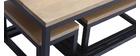 Tables gigognes en manguier et métal noir (lot de 3) FACTORY