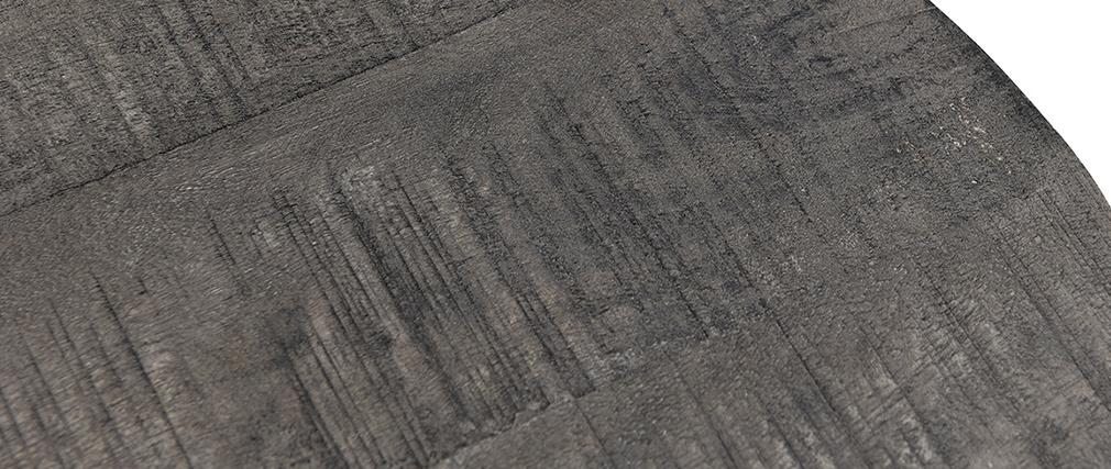 Tables gigognes en manguier grisé et métal (lot de 2) RUFF