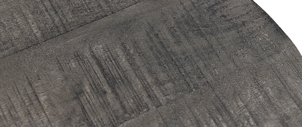 Tables gigognes en manguier massif grisé et métal (lot de 2) RUFF