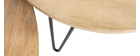 Tables gigognes rondes en manguier et métal (lot de 2) VIBES