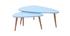 Tables gigognes scandinaves bleu clair et bois clair (lot de 2) ARTIK