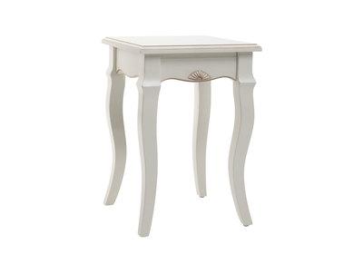 Tabouret baroque blanc BIANCA